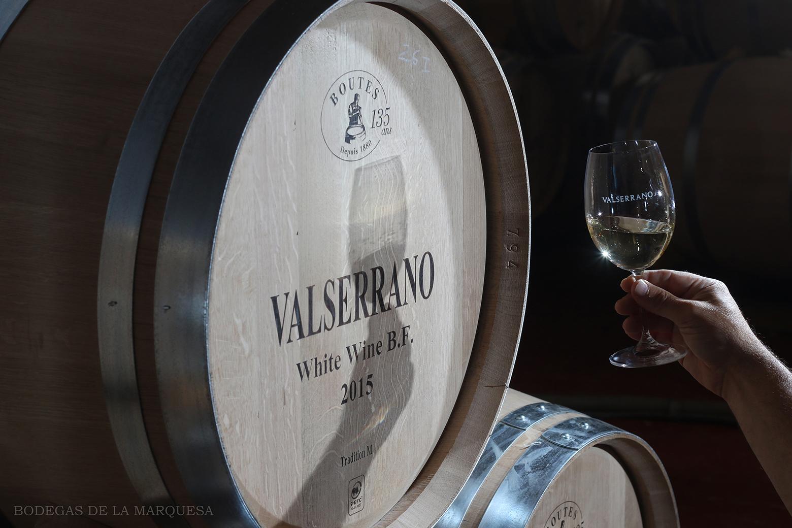 Valserrano Blanco fermentado en Barrica