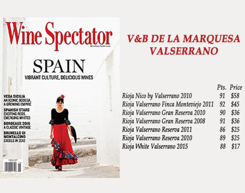 WINE SPECTATOR JUNIO 2017 V&B LA MARQUESA