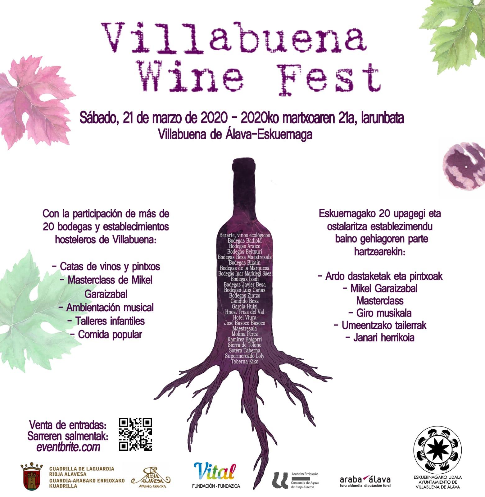 cartel villabuena wine fest